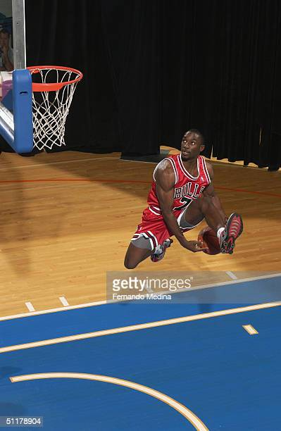 Ben Gordon of the Chicago Bulls poses for a portrait during the 2004 NBA Rookie shoot at the Madison Square Garden Training Facility on August 2,...