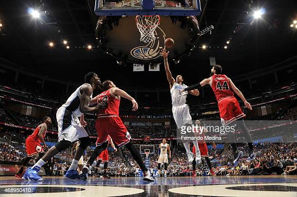 Ben Gordon of the Orlando Magic shoots against the Chicago Bulls on April 8 2015 at Amway Center in Orlando Florida NOTE TO USER User expressly...