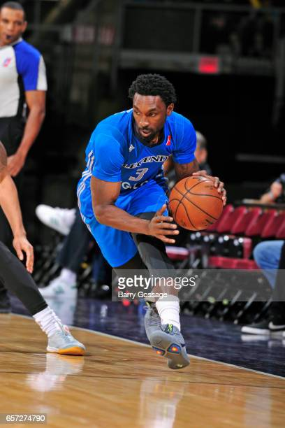 Ben Gordon of the Texas Legends dribbles the ball against the Northern Arizona Suns on March 23 2017 at Prescott Valley Event Center in Prescott...