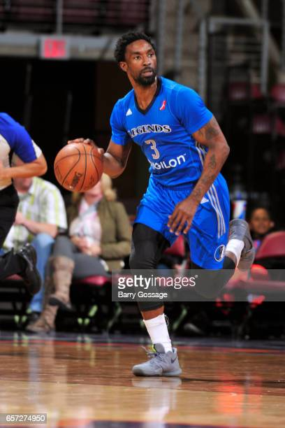 Ben Gordon of the Texas Legends dribbles the ball up court against the Northern Arizona Suns on March 23 2017 at Prescott Valley Event Center in...