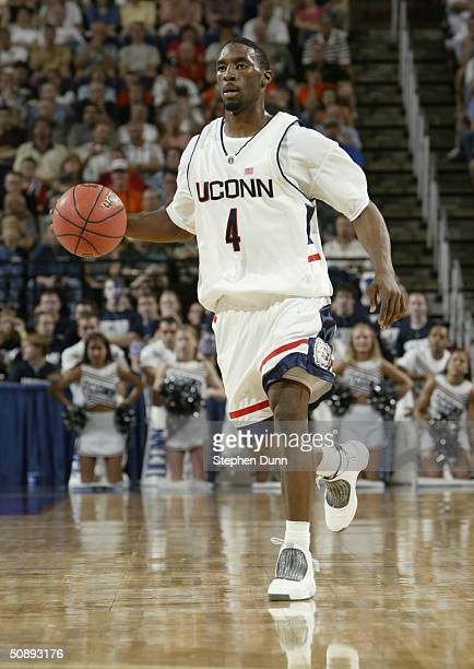 Ben Gordon the University of Connecticut Huskies moves the ball during the third round game of the NCAA Division I Men's Basketball Tournament...