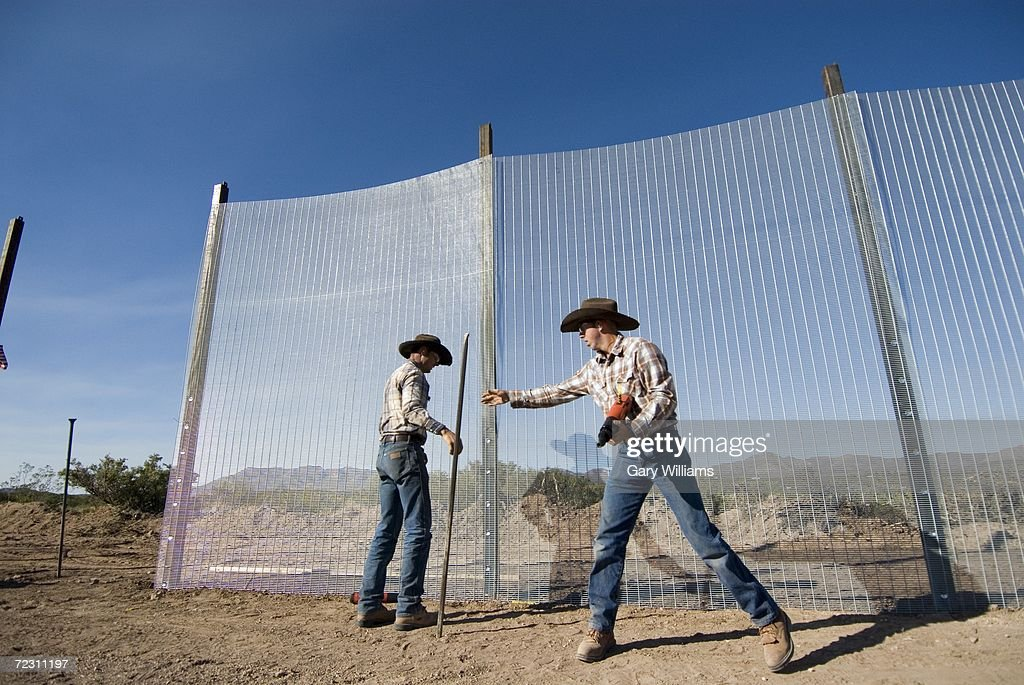 Minutemen Build Heavy Duty Border Fence Photos and Images | Getty Images