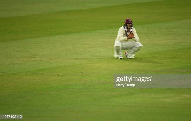 Ben Green of Somerset looks on during Day Five of the Bob Willis Trophy Final match between Somerset and Essex at Lord's Cricket Ground on September...