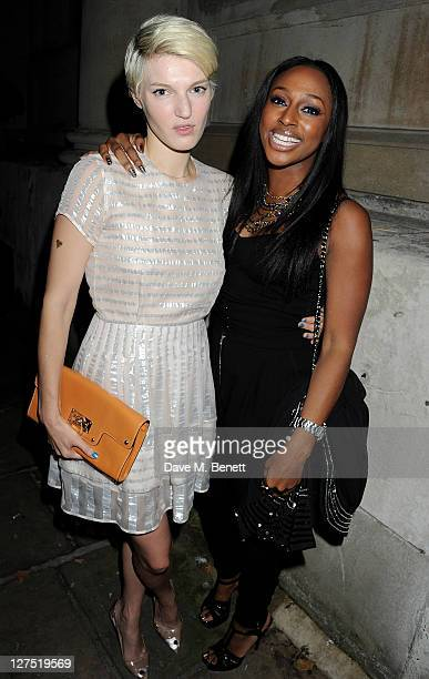 Ben Grimes and Alexandra Burke attend the Quintessentially Awards 2011 at One Marylebone on September 28 2011 in London England