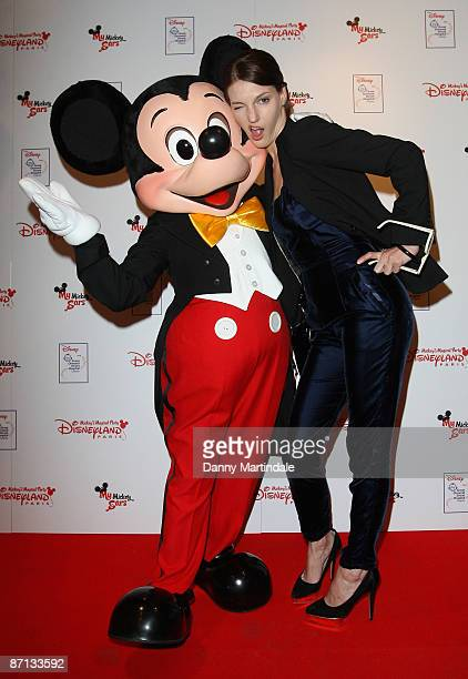 Ben Grimes and Mickey Mouse attends the unveiling of the 'Disneyland Resort Paris Celebrity Designed Mickey Ears' at START Boutique on May 12 2009 in...