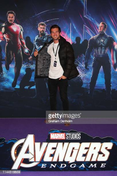 Ben Hall poses ahead of the special screening of Marvel Studios' Avengers Endgame at IMAX Melbourne Museum on April 23 2019 in Melbourne Australia