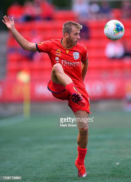 Ben Halloran of Adelaide United during the round 19 A-League match between Adelaide United and the Central Coast Mariners at Coopers Stadium on...