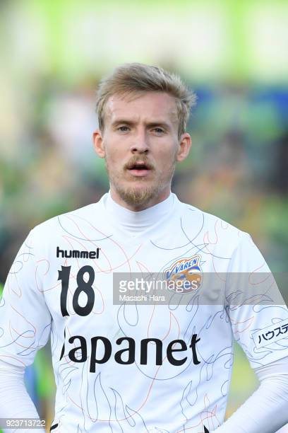 Ben Halloran of VVaren Nagasaki looks on during the JLeague J1 match between Shonan Bellmare and VVaren Nagasaki at the Shonan BMW Stadium Hiratsuka...