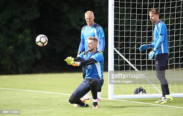 Ben Hamer during the Leicester City Training and Press Conference at Belvoir Drive Training Complex on August 05 2016 in Leicester United Kingdom