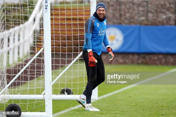 Ben Hamer during the Leicester City training session at Belvoir Drive Training Complex on January 11th 2018 in Leicester United Kingdom