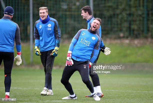 Ben Hamer during the Leicester City training session at Belvoir Drive Training Complex on February 08 2018 in Leicester United Kingdom