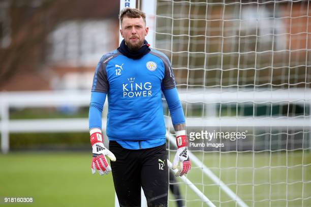 Ben Hamer during the Leicester City training session at Belvoir Drive Training Complex on February 14 2018 in Leicester United Kingdom