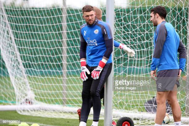 Ben Hamer during the Leicester City training session at the Marbella Soccer Camp Complex on March 14 2018 in Marbella Spain