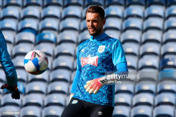 Ben Hamer of Huddersfield Town during the Sky Bet Championship match between Huddersfield Town and Norwich City at John Smith's Stadium on September...