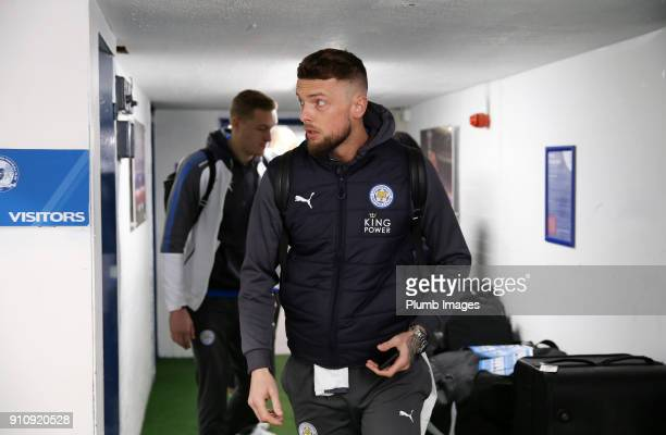 Ben Hamer of Leicester City arrives at ABAX Stadium ahead of The Emirates FA Cup Fourth Round tie between Peterborough United and Leicester City at...