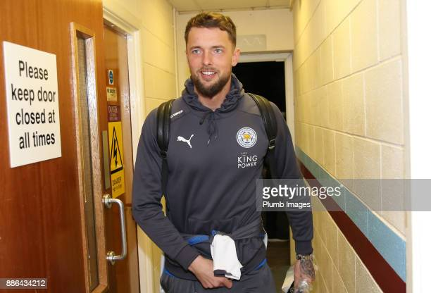 Ben Hamer of Leicester City arrives at Glanford Park ahead of the Checkatrade Trophy tie between Scunthorpe United and Leicester City at Glanford...