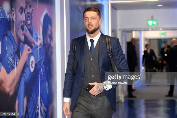 Ben Hamer of Leicester City arrives at King Power Stadium ahead of the Premier League match between Leicester City and Manchester United at King...