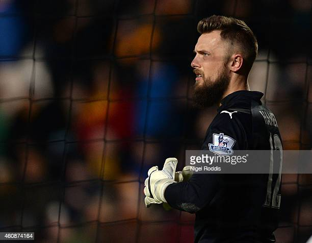 Ben Hamer of Leicester City during the Barclays Premier League match between Hull City and Leicester City at the KC Stadium on December 28 2014 in...