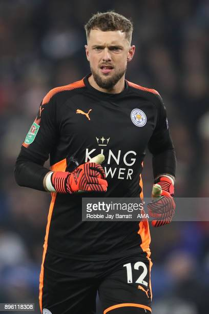 Ben Hamer of Leicester City during the Carabao Cup QuarterFinal match between here Leicester City v Manchester City at The King Power Stadium on...