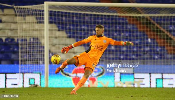 Ben Hamer of Leicester City during the Checkatrade Trophy tie between Oldham Athletic and Leicester City at Boundary Park on January 17th 2018 in...