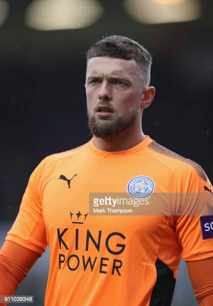 Ben Hamer of Leicester City in action during the Emirates FA Cup Fourth Roundat ABAX Stadium on January 27 2018 in Peterborough England