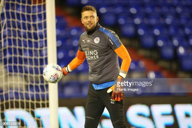 Ben Hamer of Leicester City warms up at Boundary Park ahead of the Checkatrade Trophy tie between Oldham Athletic and Leicester City at Boundary Park...
