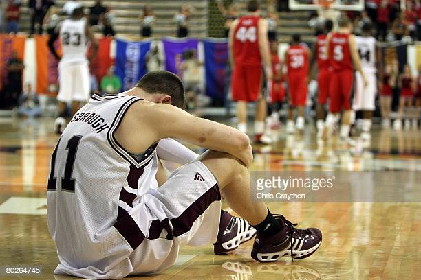 Ben Hansbrough of the Mississippi State Bulldogs reacts to losing to the Georgia Bulldogs during the SEC Men's Basketball tournament on March 15 2008...