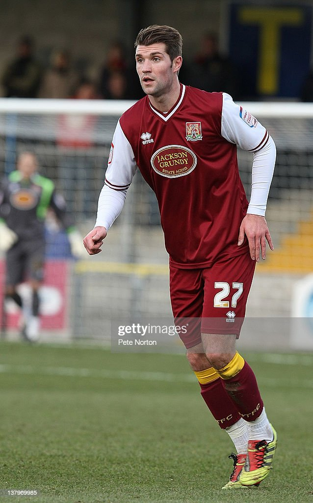 Ben Harding of Northampton Town in action during the npower League Two match between Torquay United and Northampton Town at Plainmoor on January 28, 2012 in Torquay, England.