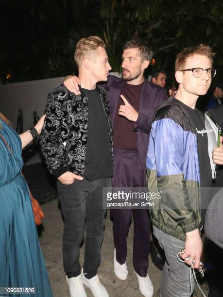 Ben Hardy and Gwilym Lee are seen on January 27 2019 in Los Angeles California
