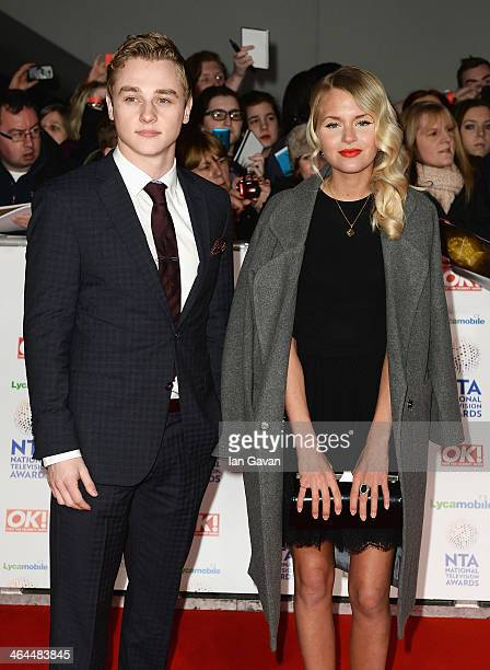 Ben Hardy and Hetti Bywater attend the National Television Awards at 02 Arena on January 22 2014 in London England