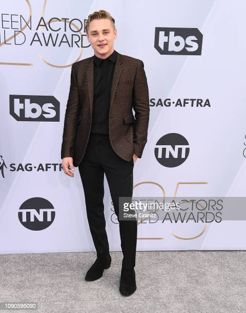 Ben Hardy arrives at the 25th Annual Screen ActorsGuild Awards at The Shrine Auditorium on January 27 2019 in Los Angeles California