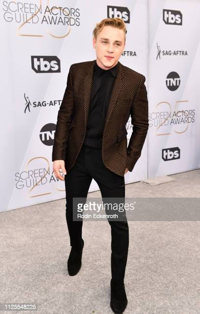 Ben Hardy arrives at the 25th Annual Screen ActorsGuild Awards at the The Shrine Auditorium on January 27 2019 in Los Angeles California