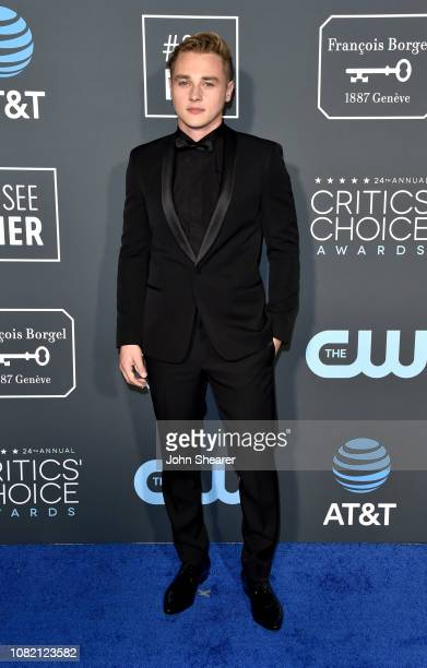 Ben Hardy attends the 24th Annual Critics' Choice Awards at Barker Hangar on January 13 2019 in Santa Monica California