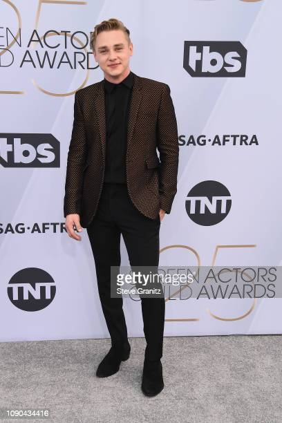 Ben Hardy attends the 25th Annual Screen Actors Guild Awards at The Shrine Auditorium on January 27 2019 in Los Angeles California