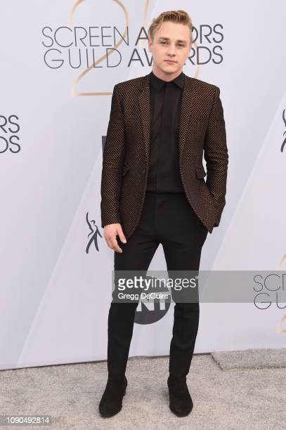 Ben Hardy attends the 25th Annual Screen ActorsGuild Awards at The Shrine Auditorium on January 27 2019 in Los Angeles California 480645