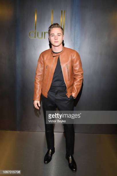 Ben Hardy attends the Dunhill London Menswear Fall/Winter 20192020 show as part of Paris Fashion Week on January 20 2019 in Paris France