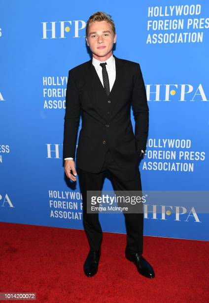 Ben Hardy attends the Hollywood Foreign Press Association's Grants Banquet at The Beverly Hilton Hotel on August 9 2018 in Beverly Hills California
