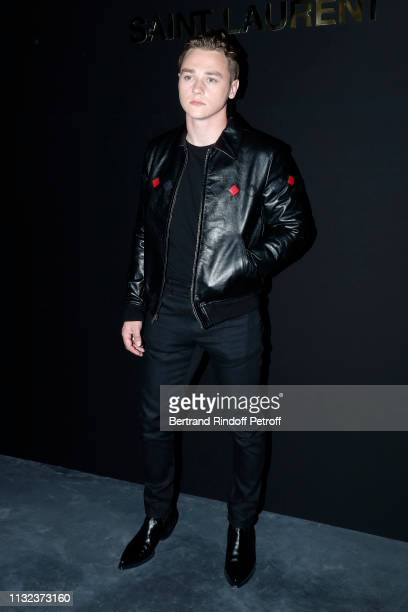 Ben Hardy attends the Saint Laurent show as part of the Paris Fashion Week Womenswear Fall/Winter 2019/2020 on February 26 2019 in Paris France