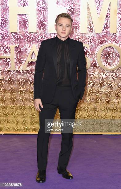 Ben Hardy attends the World Premiere of 'Bohemian Rhapsody' at SSE Arena Wembley on October 23 2018 in London England