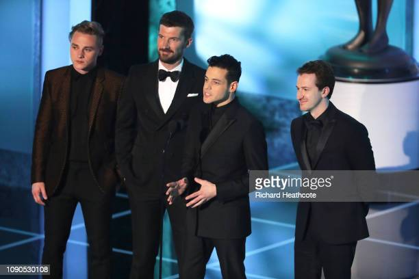 Ben Hardy Gwilym Lee Rami Malek and Joseph Mazzello onstage during the 25th Annual Screen Actors Guild Awards at The Shrine Auditorium on January 27...