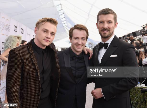 Ben Hardy Joseph Mazzello and Gwilym Lee attend the 25th Annual Screen ActorsGuild Awards at The Shrine Auditorium on January 27 2019 in Los Angeles...