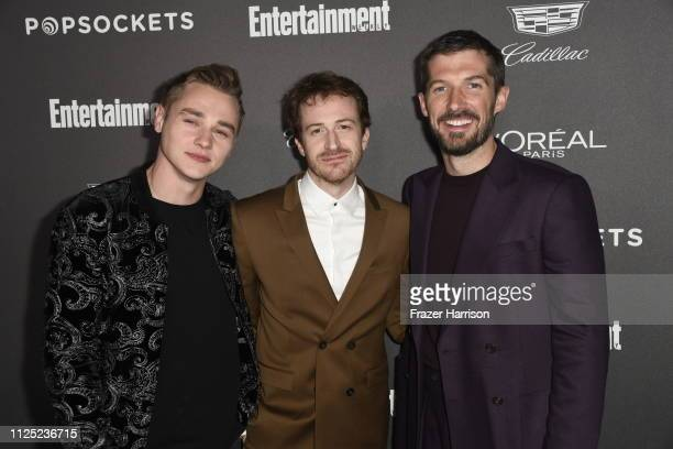 Ben Hardy Joseph Mazzello and Gwilym Lee attend the Entertainment Weekly PreSAG Party at Chateau Marmont on January 26 2019 in Los Angeles California