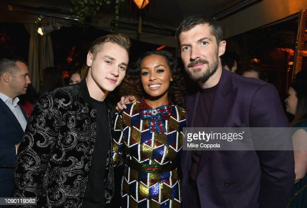 Ben Hardy Melanie Liburd and Gwilym Lee attend Entertainment Weekly Celebrates Screen Actors Guild Award Nominees sponsored by L'Oreal Paris Cadillac...