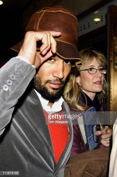 Ben Harper and Laura Dern during Laura Dern and Ben Harper Sighting at 'The Vertical Hour' in New York City Decemeber 5 2006 at The Music Box Theater...