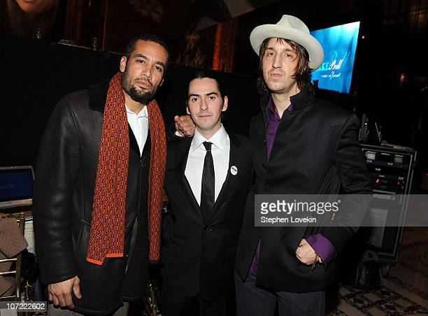 Ben Harper, Dhani Harrison and Joseph Arthur of Fistful of Mercy attend the 2010 UNICEF Snowflake Ball at Cipriani 42nd Street on November 30, 2010...