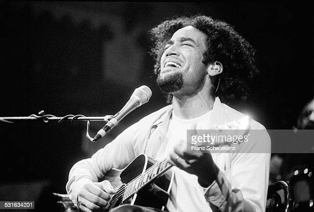 Ben Harper, guitar and vocals, performs at the Paradiso on October 23rd 1997 in Amsterdam, Netherlands.