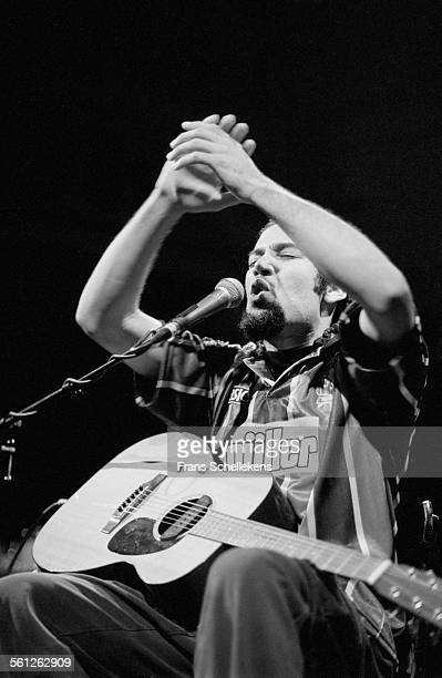 Ben Harper, guitar and vocals, performs on November 10th 1994 at the Paradiso in Amsterdam, Netherlands.