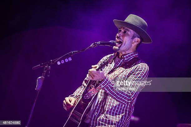 Ben Harper performs during his live concert with the Innocent Criminals in Milan. The American singer-songwriter and the legendary band on stage in...