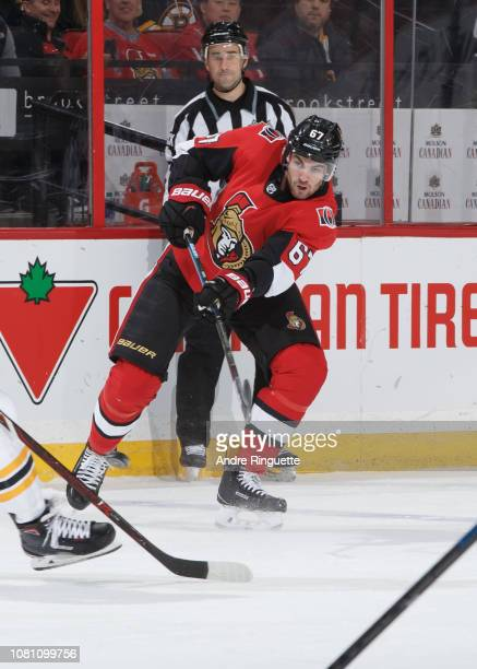 Ben Harpur of the Ottawa Senators skates against the Boston Bruins at Canadian Tire Centre on December 9 2018 in Ottawa Ontario Canada