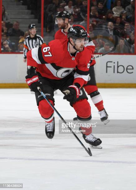Ben Harpur of the Ottawa Senators skates against the St Louis Blues at Canadian Tire Centre on March 14 2019 in Ottawa Ontario Canada
